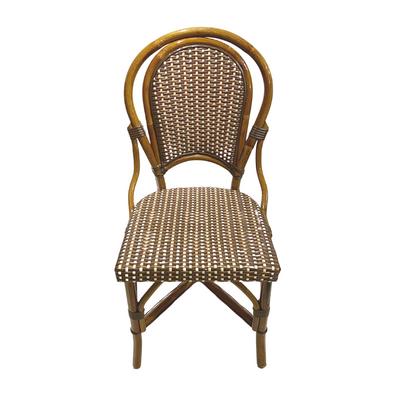 Marais Rattan Bistro Chair -Ivory/Brown/Bronze (Set of 2)