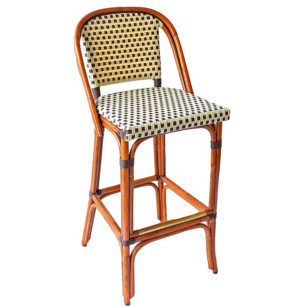 Miraculous St Germain Rattan Bar Stool 30H Seat 6 Patterns Inzonedesignstudio Interior Chair Design Inzonedesignstudiocom