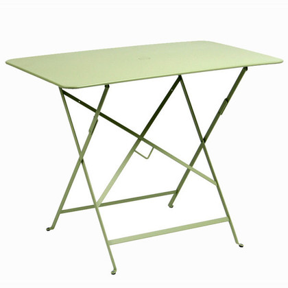 "Bistro 38"" x 23"" folding table."