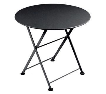 The Bistro low table shown in liquorice (black).