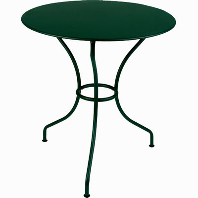 "The 26"" Opera table shown in Cedar Green."
