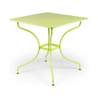 "The 30"" square opera table shown in willow green."