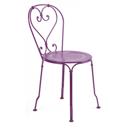 The 1900 Stacking chair shown in Aubergine.