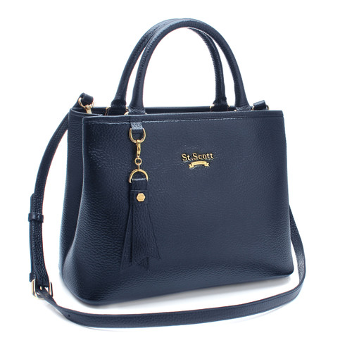 [SAINT SCOTT] Mag Tote Bag - Navy Blue