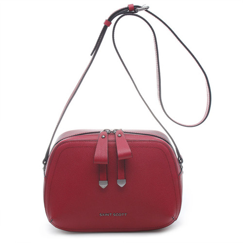 [SAINT SCOTT]Sarah Crossbody Bag - Cherry Burgundy