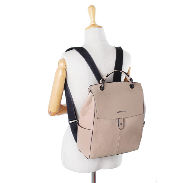 52714b48c [SAINT SCOTT]Evan Backpack - Blush Pink. Price: $316.00. Image 1. Larger /  More Photos