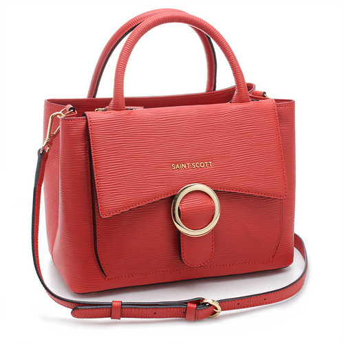 [SAINT SCOTT]Regina Tote Bag - Coral red
