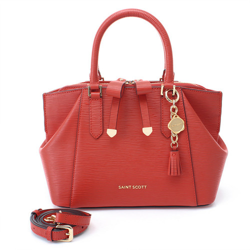 [SAINT SCOTT]Sarah Tote Bag - Coral Red