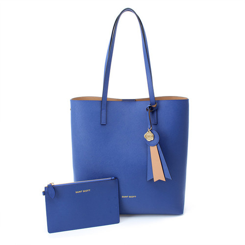 [SAINT SCOTT]Ivy shopper bag - Aqua Blue