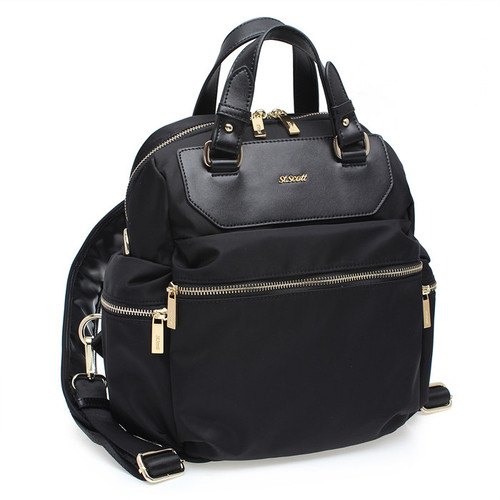 [SAINT SCOTT] Barcelona 2way Backpack - Black