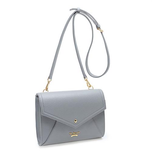 [SAINT SCOTT]Love Letter Cross Bag - Cream Grey