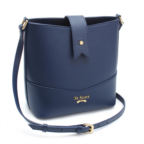 [SAINT SCOTT] Becky Bucket Bag - Navy Blue