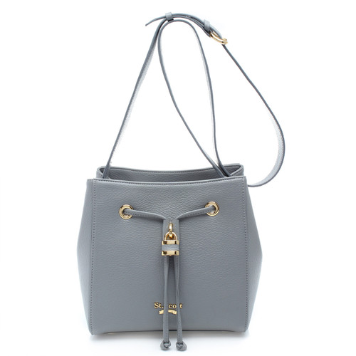 [SAINT SCOTT]Penny Bucket Bag - Cream Grey
