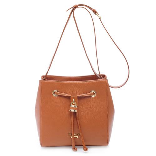 [SAINT SCOTT]Penny Bucket Bag - Maple Brown