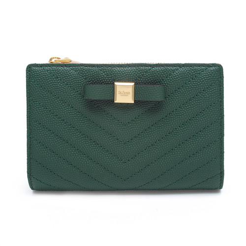[SAINT SCOTT]Mandy Small Wallet - Emerald green