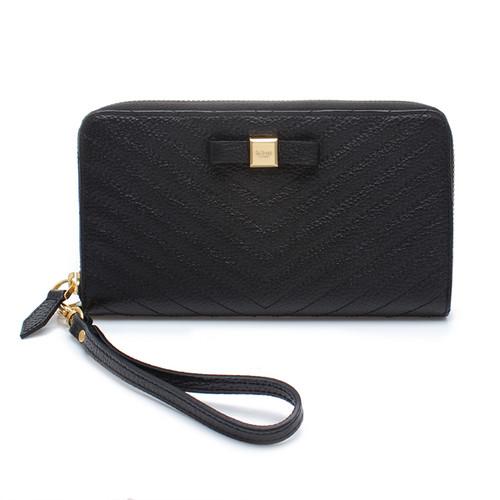 [SAINT SCOTT]Mandy Zip Continental Wallet  -  Black
