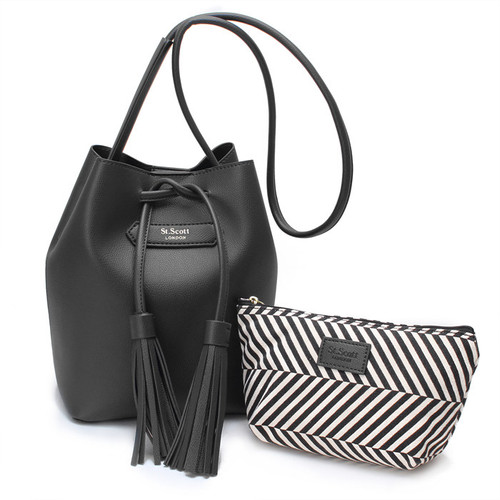 [SAINT SCOTT] Maive Bucket Bag - Black
