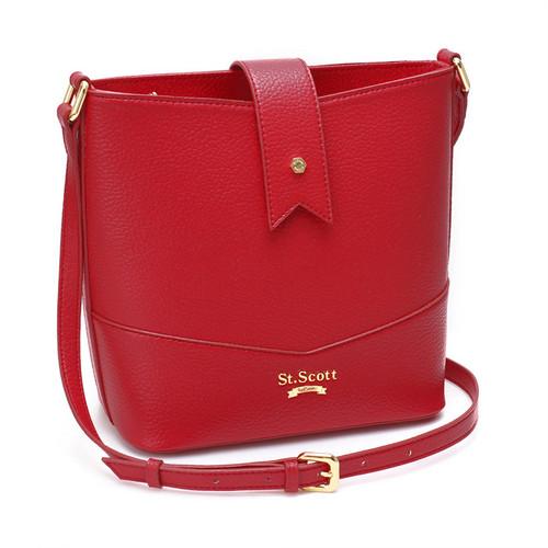 [SAINT SCOTT]Becky Bucket Bag - Scarlet Red