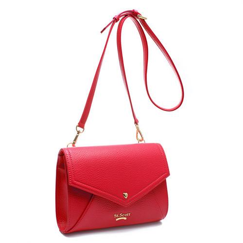 [SAINT SCOTT]Love Letter Cross Bag - Scarlet Red