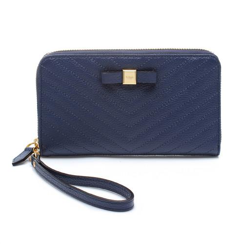 [SAINT SCOTT]Mandy Zip Continental Wallet  -  Navy Blue
