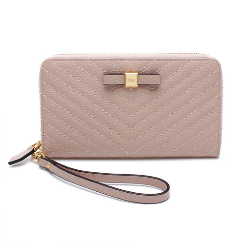 [SAINT SCOTT]Mandy Zip Continental Wallet  -  Blush Pink