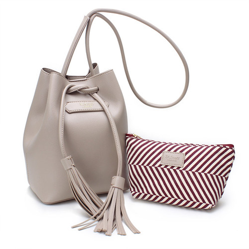 [SAINT SCOTT] Maive Bucket Bag - Gray