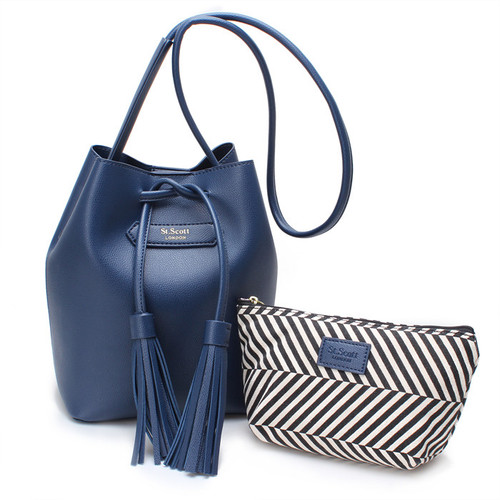 [SAINT SCOTT] Maive Bucket Bag - Navy
