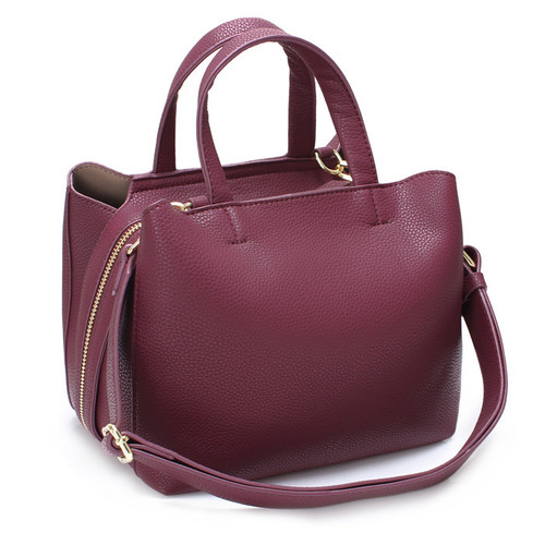 [SAINT SCOTT]SIA TOTE BAG - Burgundy