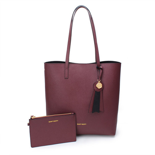 [SAINT SCOTT]Ivy shopper bag - Burgundy