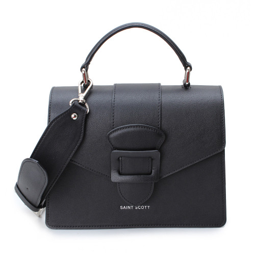 [SAINT SCOTT] Victoria Top Handle Tote Bag - Black