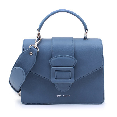 [SAINT SCOTT] Victoria Top Handle Tote Bag - Navy