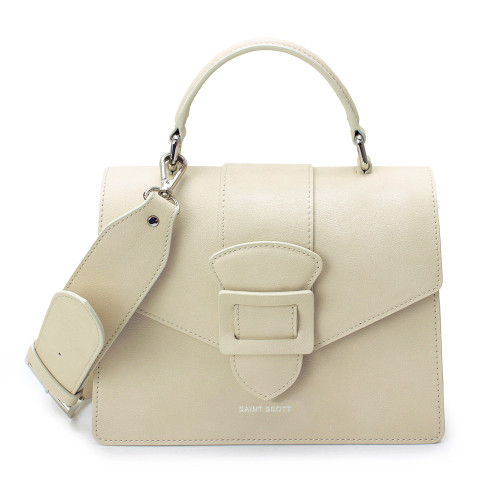 [SAINT SCOTT] Victoria Top Handle Tote Bag - Cream
