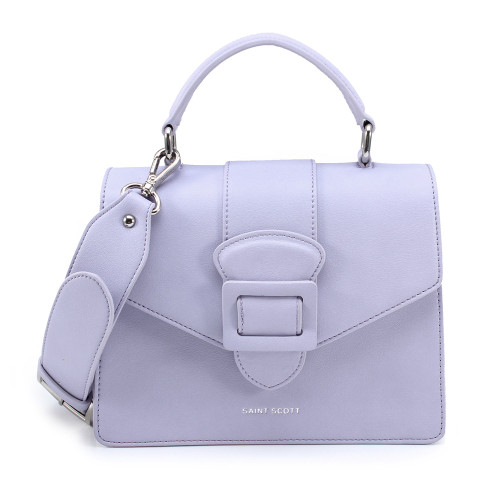 [SAINT SCOTT] Victoria Top Handle Tote Bag - Lavender