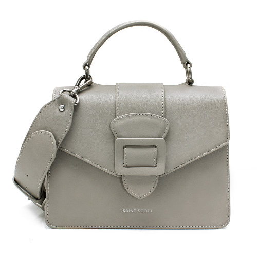 [SAINT SCOTT] Victoria Top Handle Tote Bag - Gray