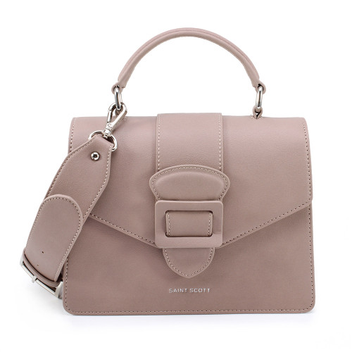 [SAINT SCOTT] Victoria Top Handle Tote Bag - Deep Purple Pink