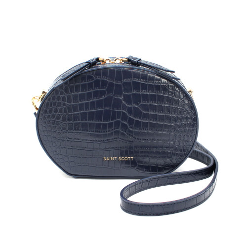 [SAINT SCOTT] Delia Croco Crossbag - Navy