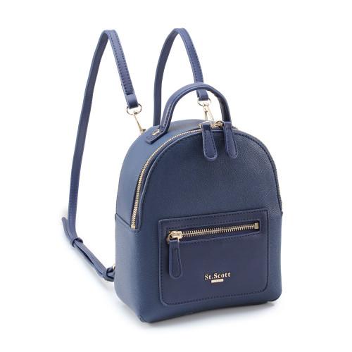 [SAINT SCOTT] Debby Mini Backpack  - Navy