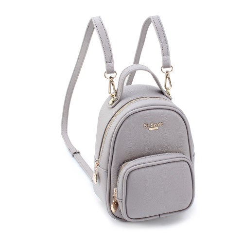 [SAINT SCOTT] Bertha Mini 2way Backpack  - Gray