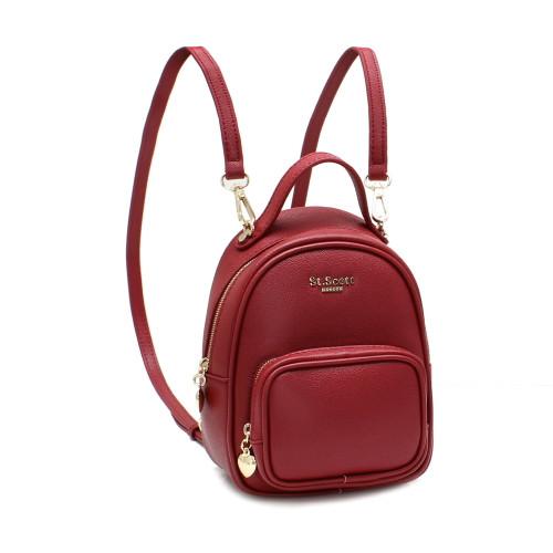 [SAINT SCOTT] Bertha Mini 2way Backpack  - Burgundy
