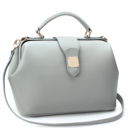 50%SALE ~30 SEP [SAINT SCOTT] Rachel Doctor Bag - Cream Gray