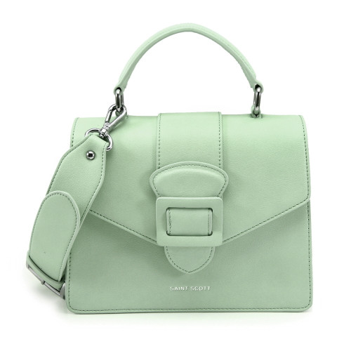 [SAINT SCOTT] Victoria Top Handle Tote Bag - Mint
