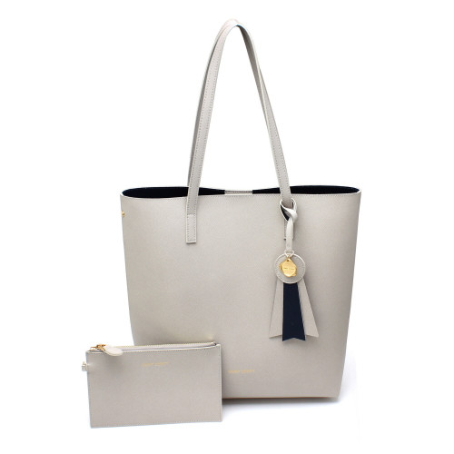 [SAINT SCOTT] Ivy shopper bag - Light Gray