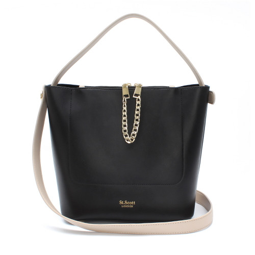 [SAINT SCOTT] Margo Shoulder Bag - Black Taupe