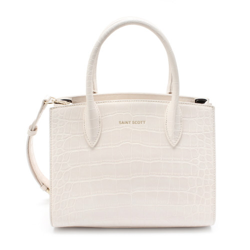 [SAINT SCOTT] Delia Croco Tote Bag - Cream