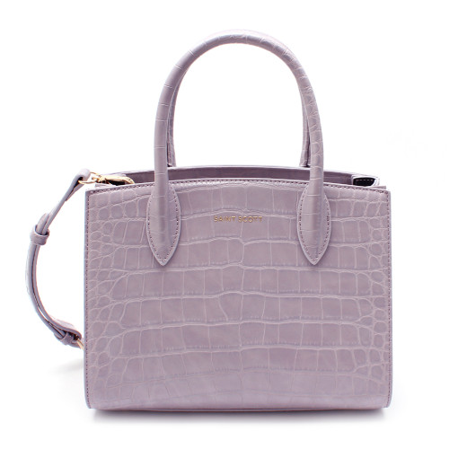 [SAINT SCOTT] Delia Croco Tote Bag - Lilac