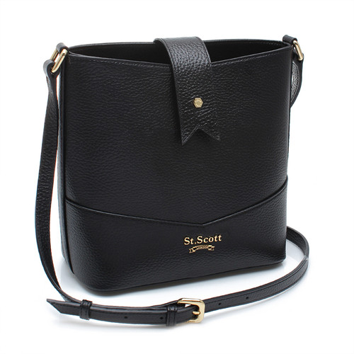 [SAINT SCOTT] Becky Bucket Bag - Black