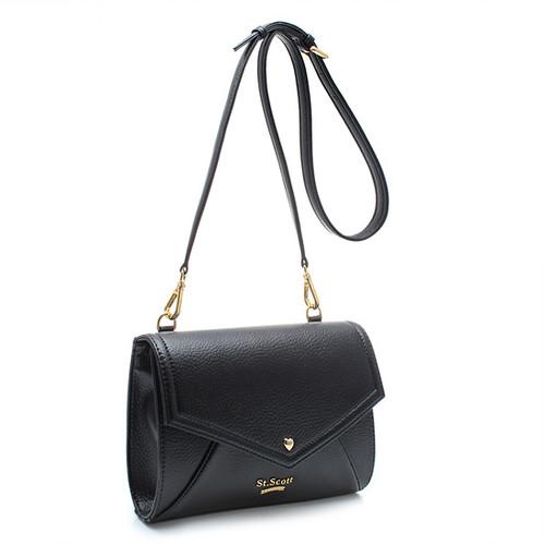[SAINT SCOTT]Love Letter Cross Bag - Black