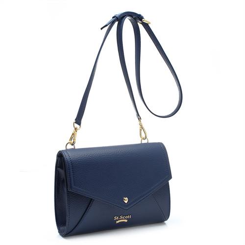 [SAINT SCOTT]Love Letter Cross Bag - Navy Blue