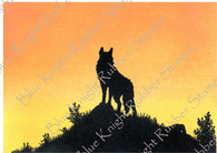 Silhouette Wolf