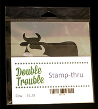 Double Trouble Cow Stamp-thru Stencil